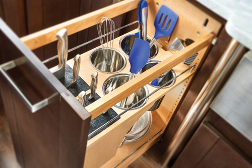 Vertical Knife and Utensil Storage